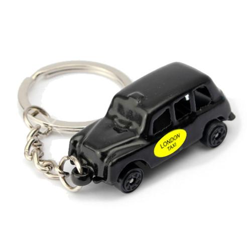 London Taxi Key Chain, Black Die Cast