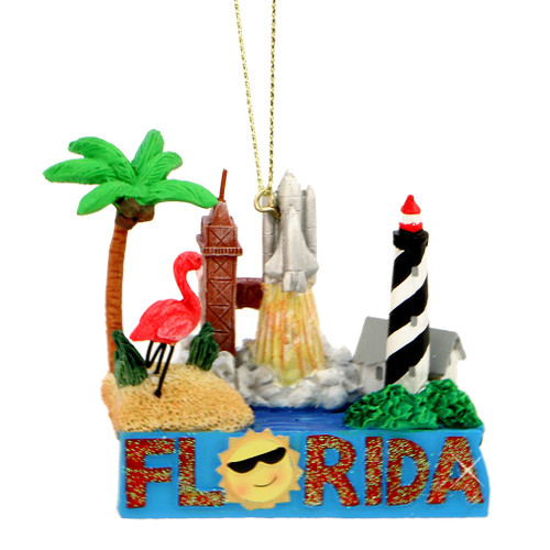 Florida Landmarks Christmas Ornament