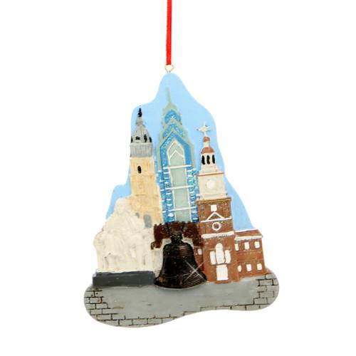 Philadelphia Landmarks Ornament for Personalization