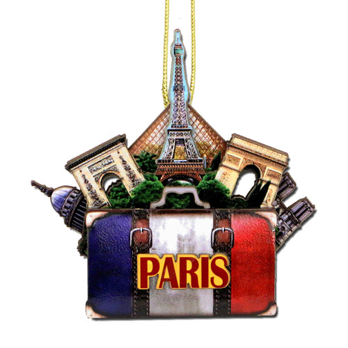 3D Paris Christmas Ornament