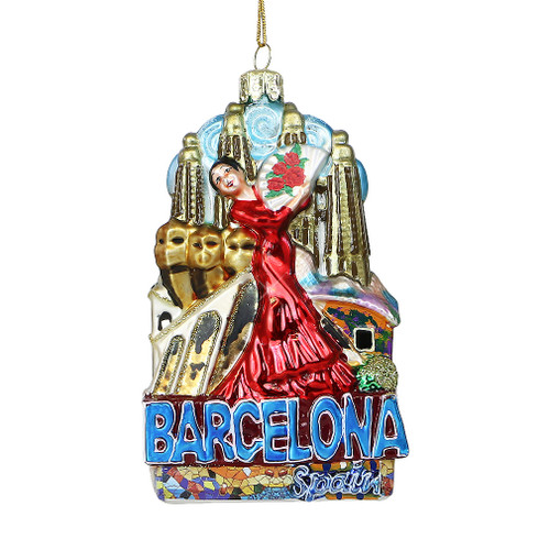 Noble Gems Glass Barcelona Ornament