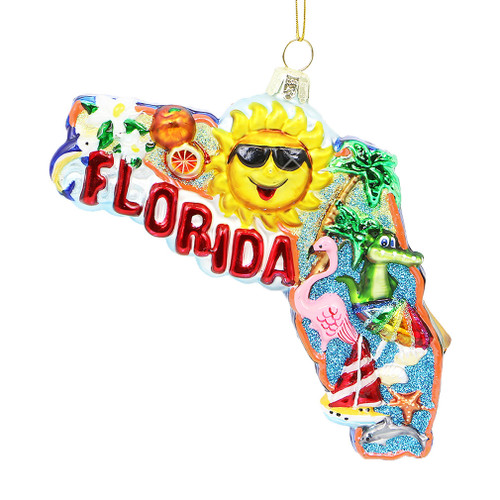 Florida Glass Ornament