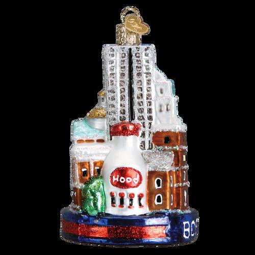 Boston Landmarks Glass Ornament