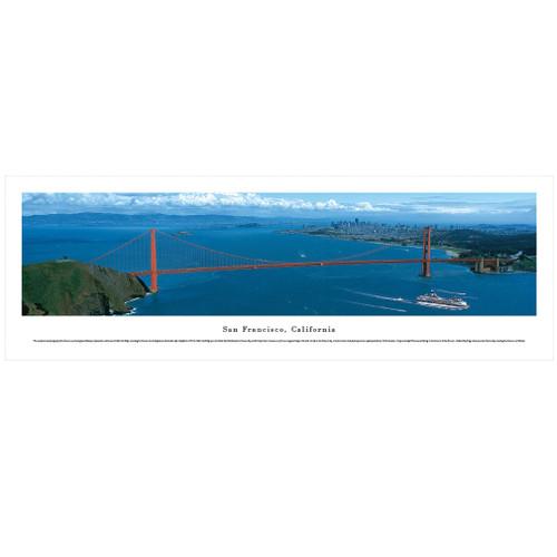 Panoramic Golden Gate Bridge Skyline Poster