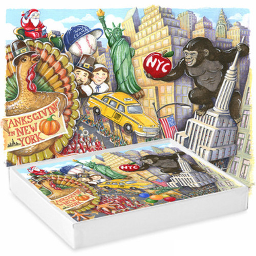 Thanksgiving Day Parade Note Cards, Set of 6