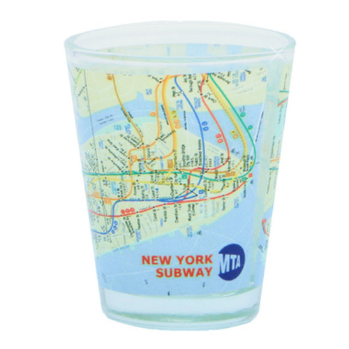 NYC MTA Subway Map Shot Glass