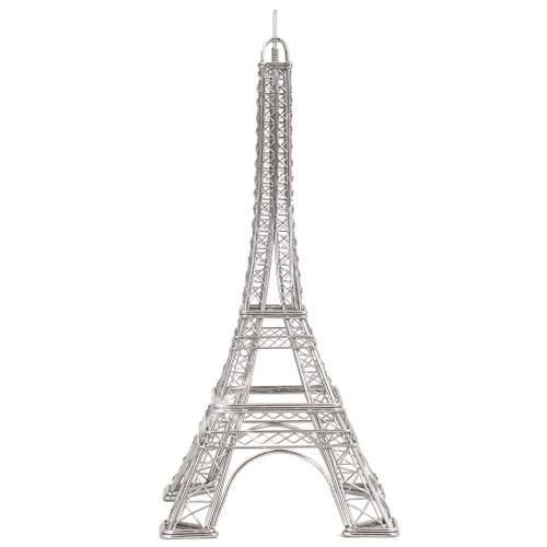 Paris Eiffel Tower replicas and statues made of steel wire
