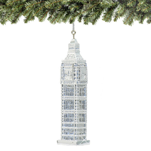 Silver Big Ben Christmas Ornaments