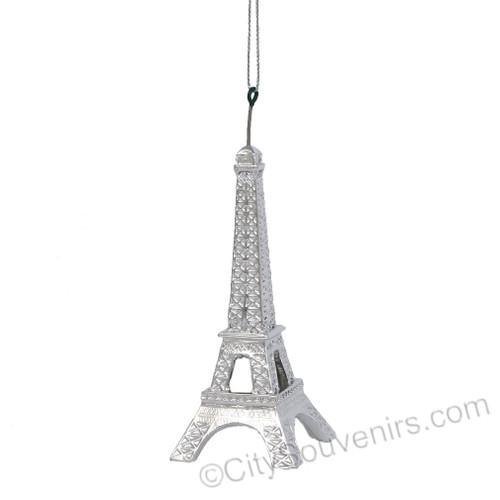 Silver Eiffel Tower Ornament