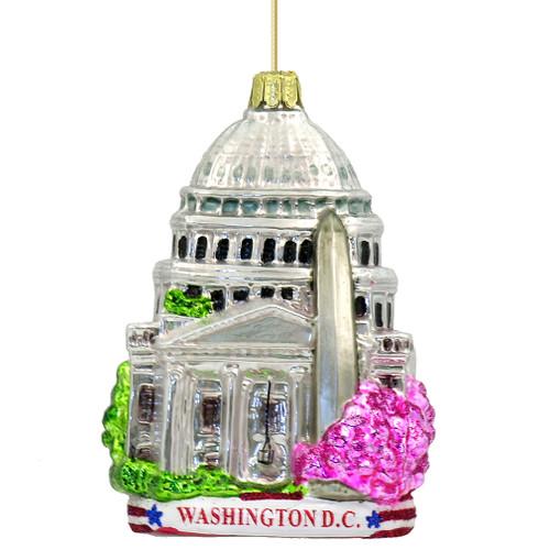 Washington DC Christmas Ornaments, Glass