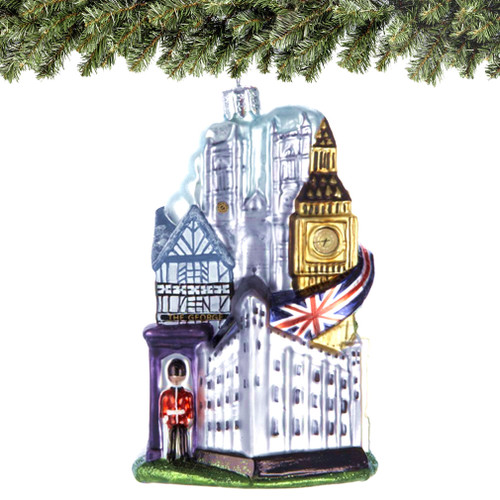 Where To Buy Christmas Decorations London: London Glass Ornament