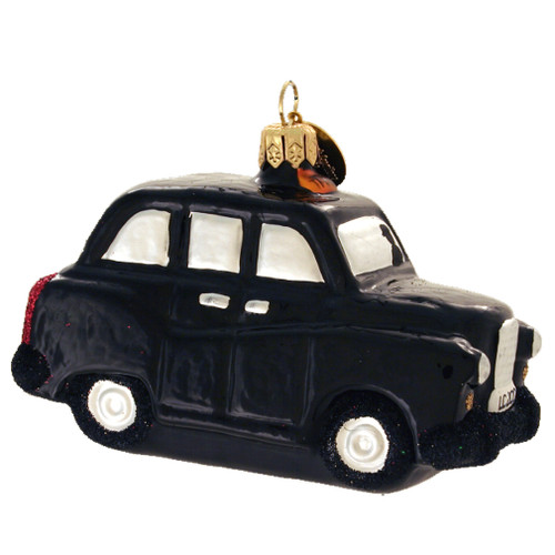 British Taxi Christmas Ornament