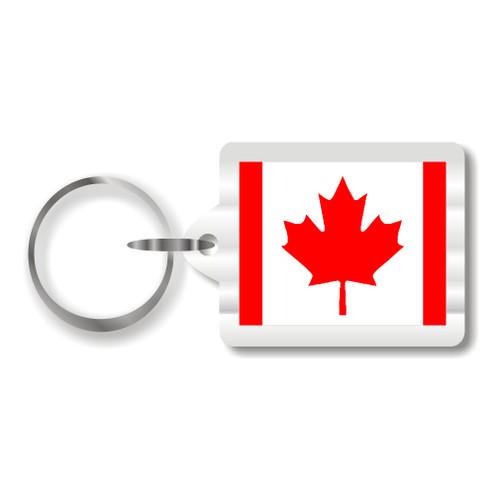 Canadian Flag Plastic Key Chain