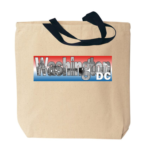Washington DC Photo Canvas Tote Bag