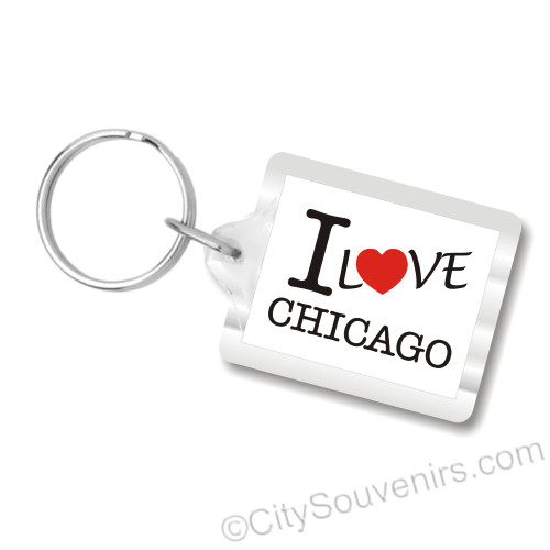 I Love Chicago Key Chain, I heart Chicago