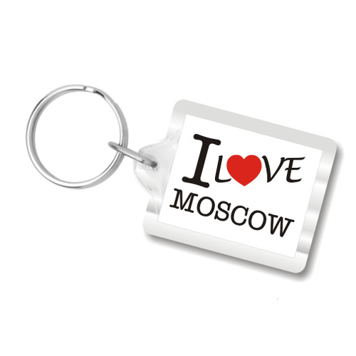 I Love Moscow Key Chains, I Heart Moscow, Russian keychain