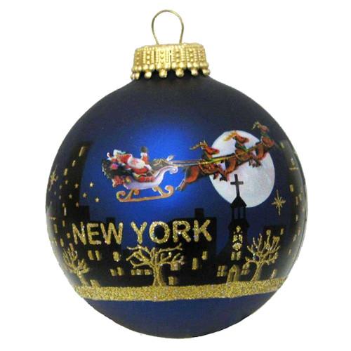 Santa Claus Christmas NYC Skyline Ornament