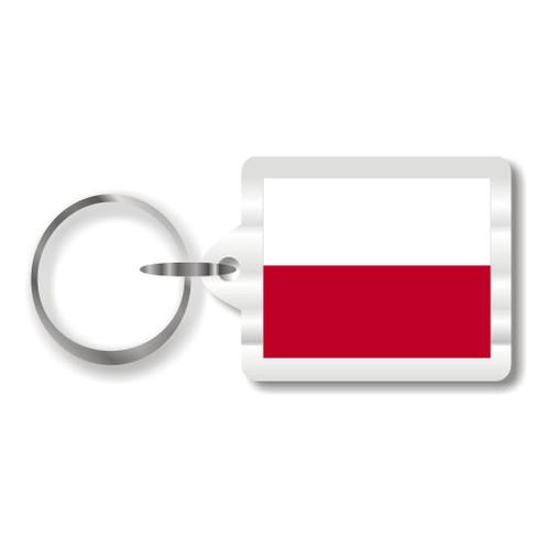 Polish Flag Key Chain
