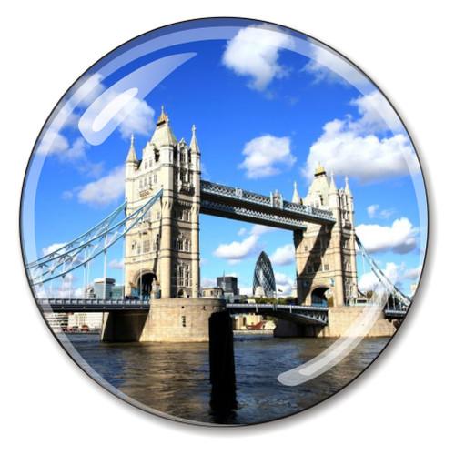London Tower Bridge Crystal Paperweight