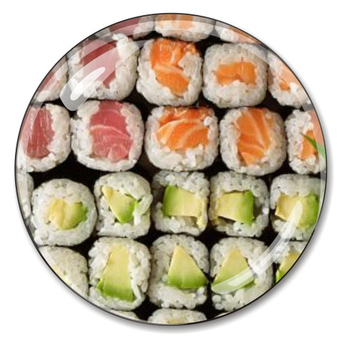 Sushi Crystal Paperweight