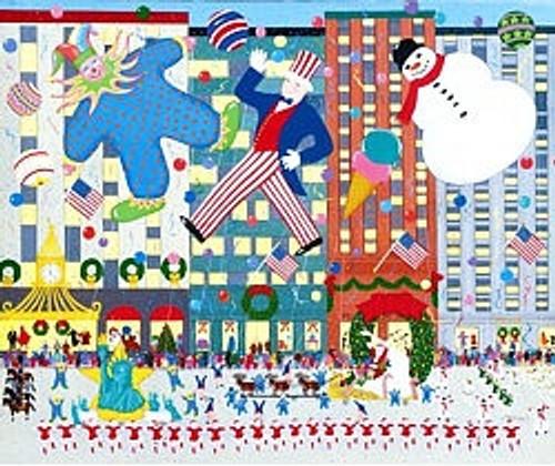 NYC Holiday Parade Scene Art