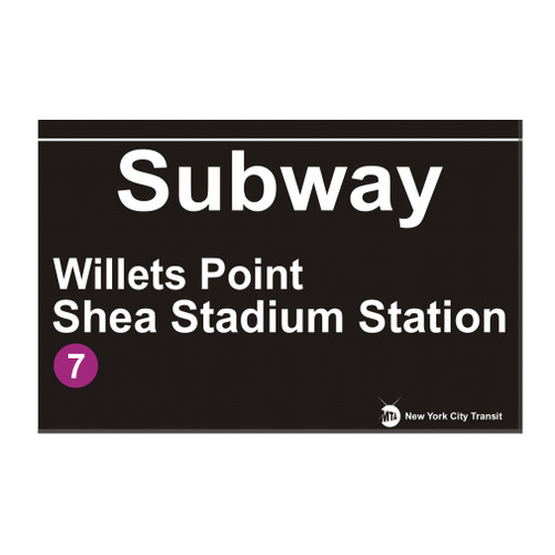 Shea Stadium Subway Magnet