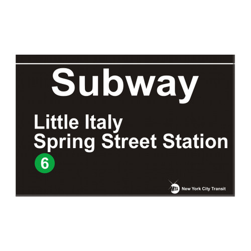 Little Italy Subway Magnet