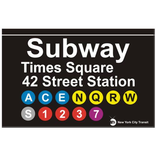 Times Square Replica Subway Sign Tin