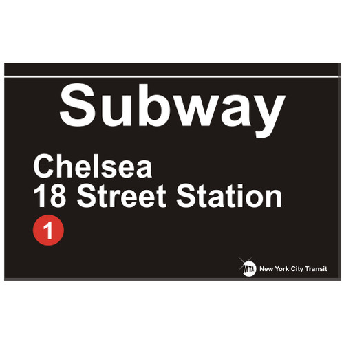 Chelsea Replica Subway Sign