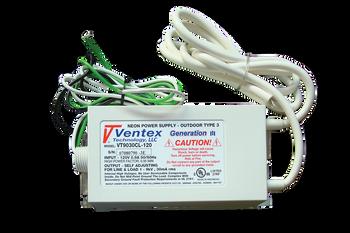 Ventex VT9030CL-120 Neon Transformer Power Supply   100v-9000v  30mA