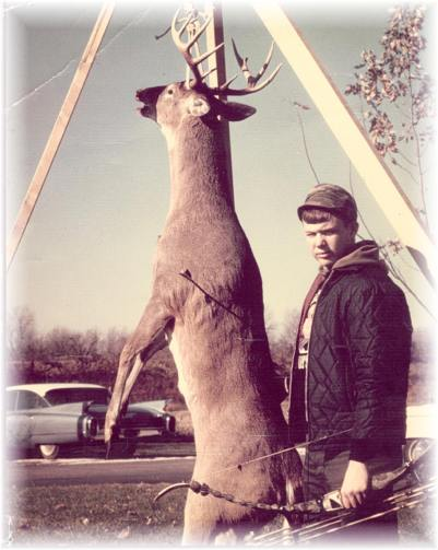 Bill with his first buck in 1965