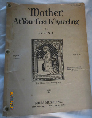 "Vintage Sheet Music ""Mother, at Your Feet Is Kneeling"""