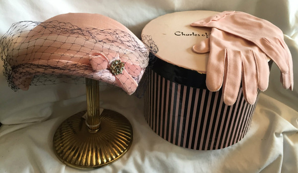 Pink, Pink, Pink  - Set Hat, Gloves and Hat Box