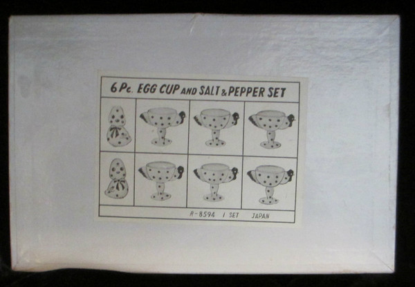 Egg Cups and Salt and Pepper Set