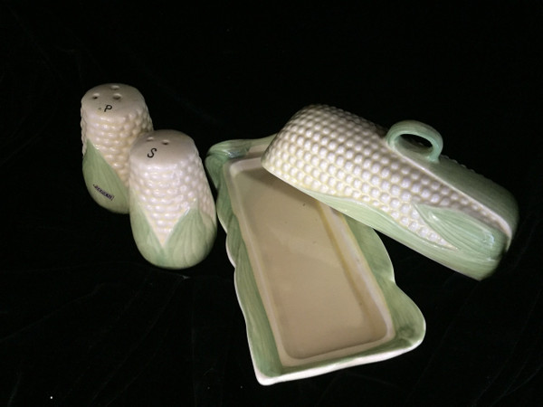 Inside view of butter dish