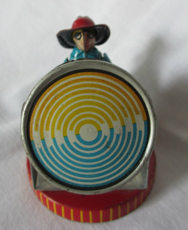 Tin Toy - Fireman with Search Light