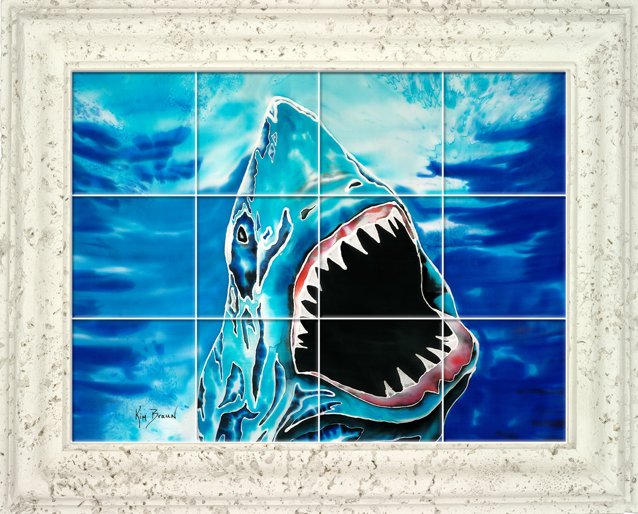 Shark Attack Ceramic Tile Mural | Kim Braun | Live Free Ink