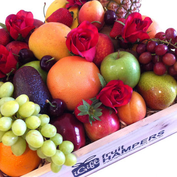 Roses Gift with Fruit