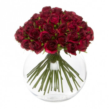 Silk Red Roses