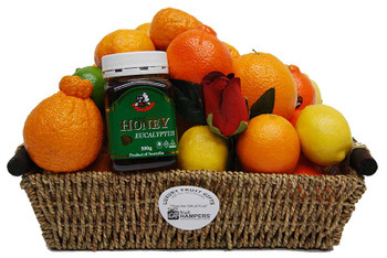 Get Well Gift Citrus Fruit Basket + Australian Eucalyptus Honey