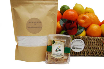 Get well basket with Epsom Bath Salts + Honeycomb