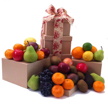 Fruit Only Tower Gift - Free Shipping - Sydney, Melbourne, Brisbane, Gold Coast & Canberra
