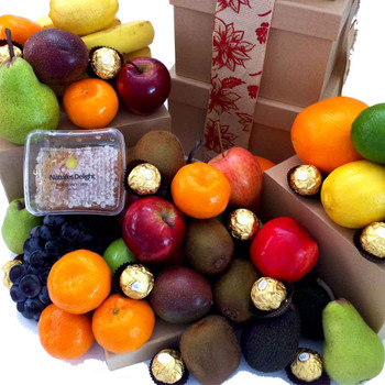 Fruit Hampers with Raw Honey