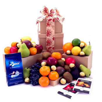Father's Day Fruit Tower Chocolate Deluxe Gift