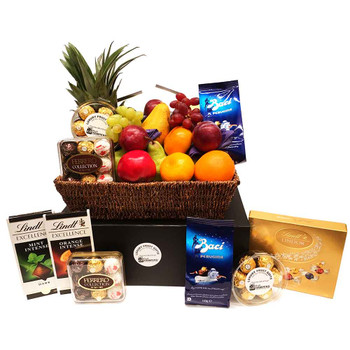 Easter hampers easter gifts delivered across australia deluxe chocolate fruit gifts negle Image collections