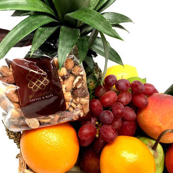 Fruit Basket + Gourmet Mixed Nuts