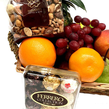 Little Fruit Basket with Nuts and Chocolates
