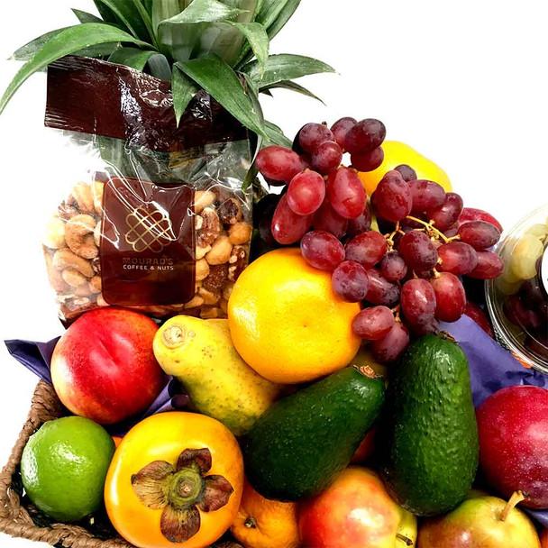 Fruit Basket + Gourmet Mixed Nuts