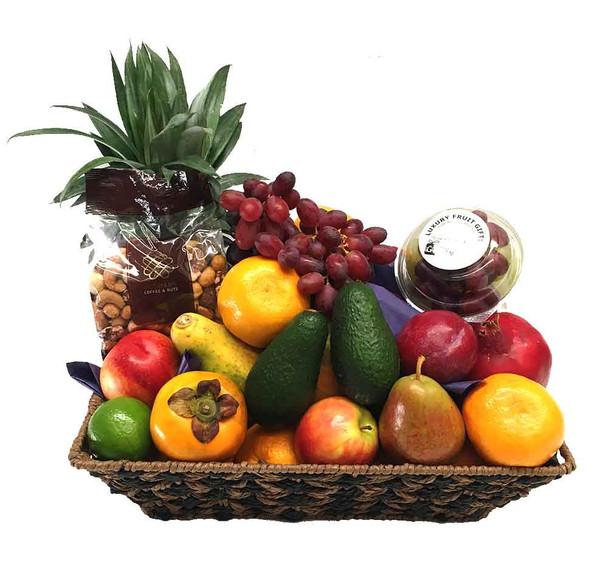 Large Fruit Basket + Gourmet Mixed Nuts