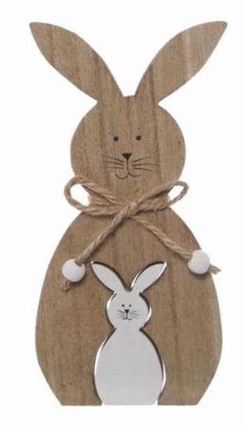 Wooden Rabbits Home Decor - Ideal to add to any Fruit Hamper or Basket